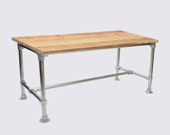 Scaffold Dining Table- Bespoke, Handmade, Rustic, Industrial style, wood & metal, reclaimed