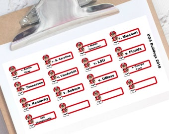 UGA football schedule planner stickers