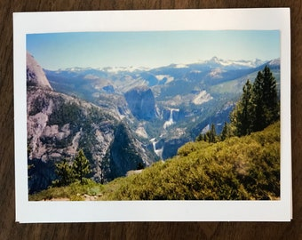 "Greting Card ""Staircase Falls in Yosemite from Glacier Point"""