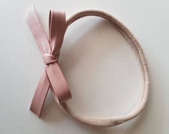 Synthetic Leather Knotted Bow Headband