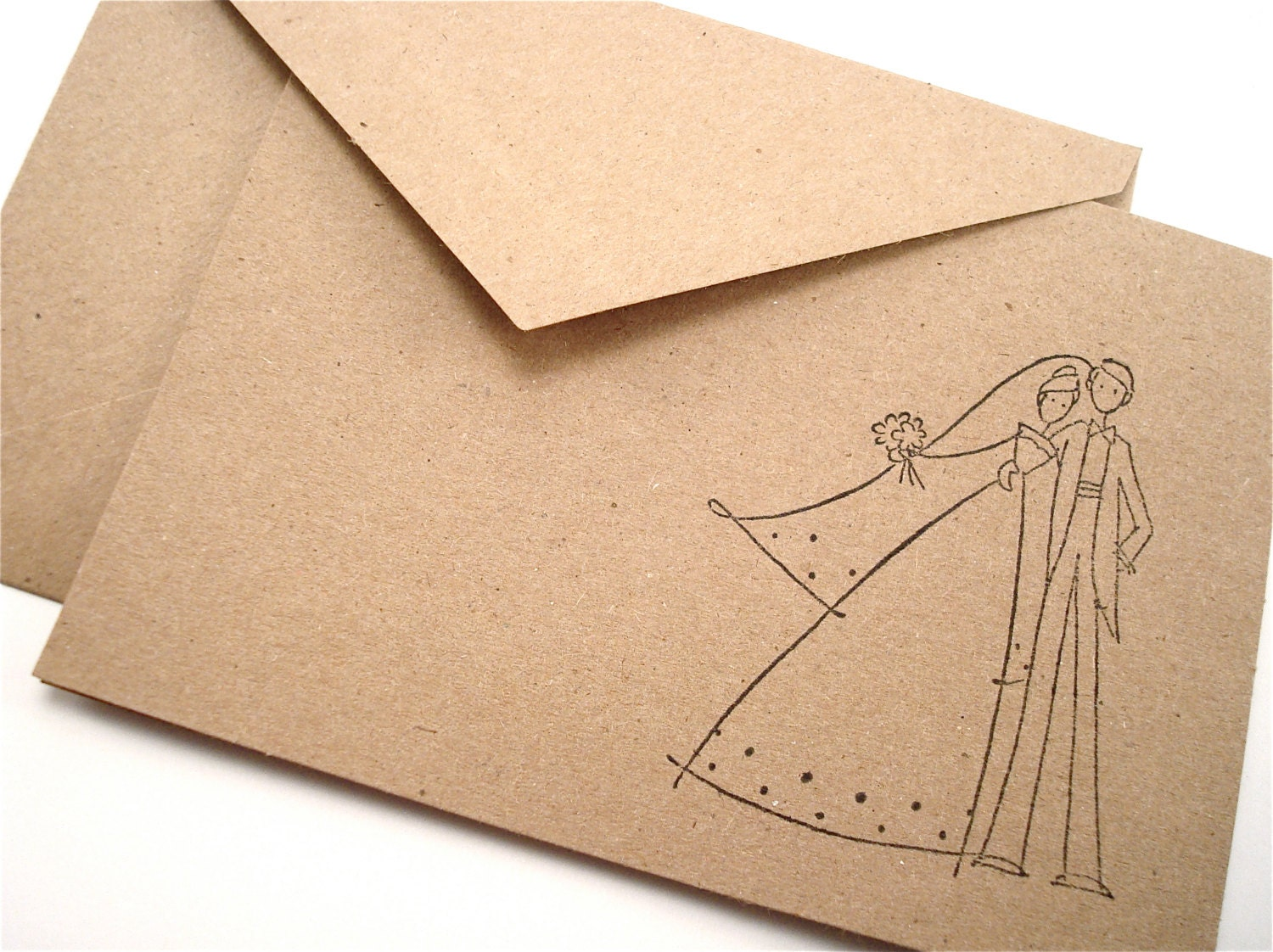 Wedding Couple Note Cards Invitations Blank Stationery