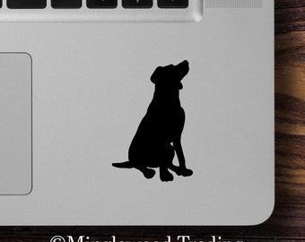 """2x SITTING LAB 2.5"""" Vinyl Decal Stickers - Labrador Retriever - Dog Puppy - 20 Color Options - *Free Shipping*"""