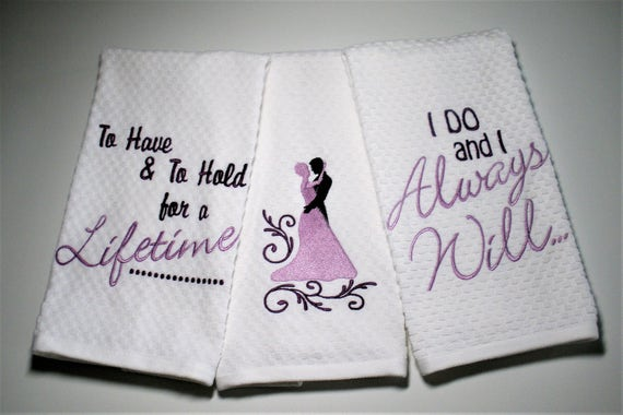 Wedding Gift Towels: Wedding Towel Wedding Gift Bridal Shower Gift Wedding Dish