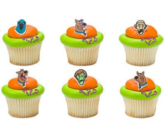 Scooby Doo 12 pc SUGARSOFT Edible Printed Cake / Cupcake Topper Decorations