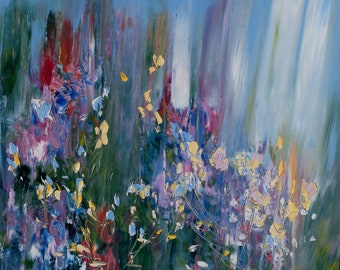 Spring Oil Painting, Abstract Panting, Floral Oil Painting, Original Art, Impressionism