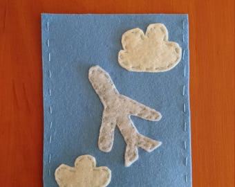 Handmade felt passport case - passport cover - passport holder - Travel - For baby - For kids - For her - For him