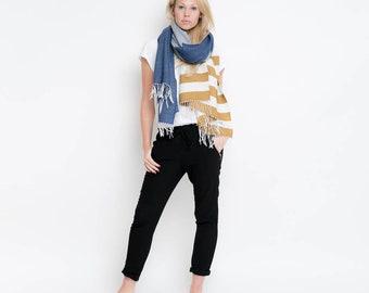 nice Merino scarf stripes – oliv