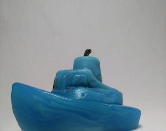 Opaque Blue Tugboat