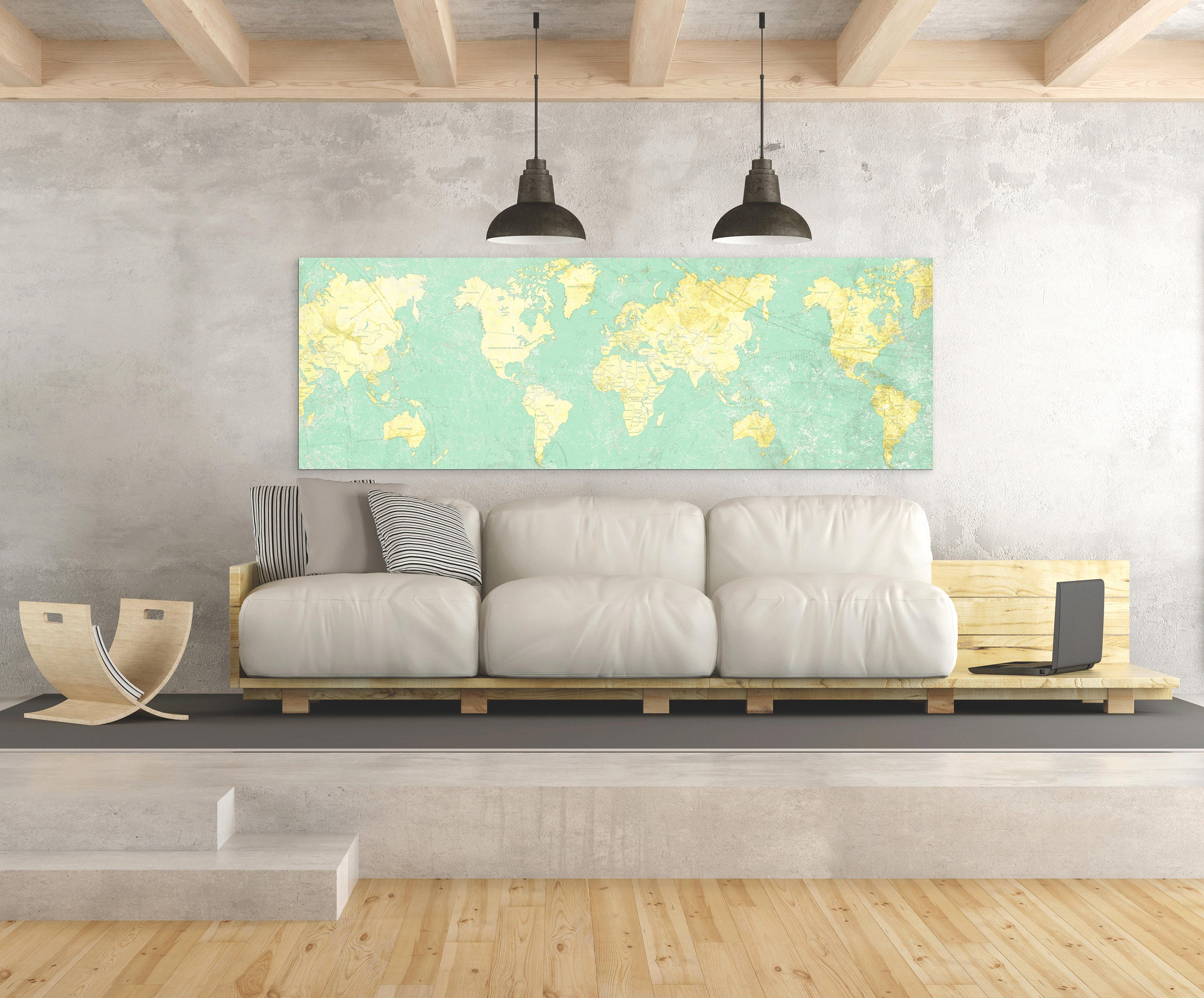 World map canvas print vintage light wall art mint turquoise yellow world map canvas print vintage light wall art mint turquoise yellow old world map panoramic large wall art vintage oversized wall art poster gumiabroncs Image collections