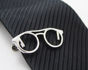 Eye Glasses , Comedy Tie Clip, Glass Accessories, Silver Accessories, Novelty Accessories, Gift For Man