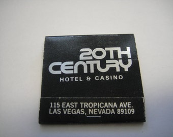 20th Century Hotel and Casino Las Vegas Matchbook