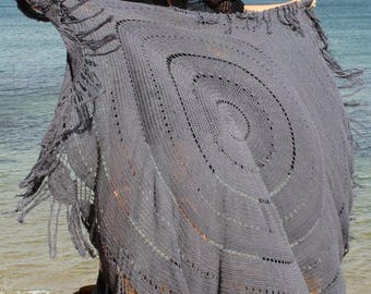 Daydreamer Crochet Throw | Blanket | Rug | GREY