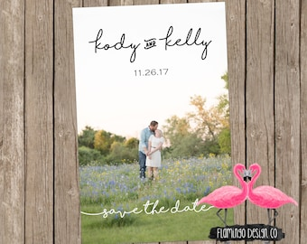 Photograph Save The Date - Simple Save The Date - Custom Save The Date - Wedding Invitation