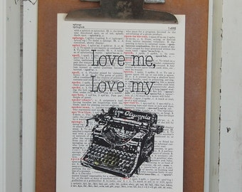 Writing Love on Vintage Book Page