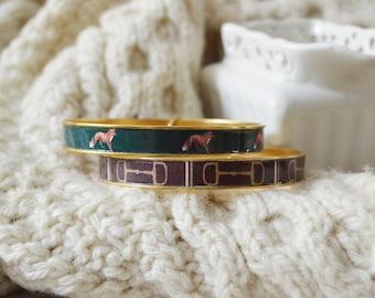 Equestrian Jewelry, Equestrian Bracelet, Equestrian Bangle, Horse Bit Bracelet, Fox Bracelet, Snaffle Bit Bracelet, Bangle Bracelets