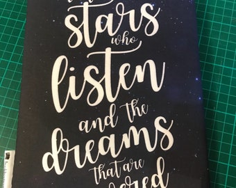 ACOTAR stars who listen bookbestie book sleeve padded and lined paperback size 2 weeks leadtime