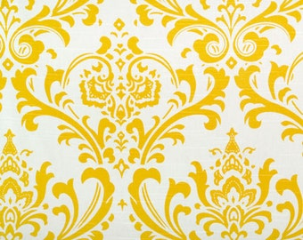 Custom Ironing Board Cover Traditions Damask Cornflower Yellow and White