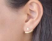 Boucles d'Oreilles Balanciers Triangles, Argent Sterling,