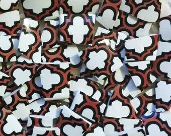 Mosaic Tiles--Quatrefoil - 50 tiles