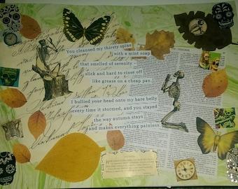 Bare Bones - Collage Print