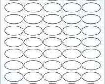 10 sheets of Clear Gloss Laser Oval labels Self adhesive 1.5 X 0.75 55 by OL6025CL sheet Sticker
