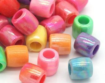 X 10 beads European Charm acrylic column - 11 mm