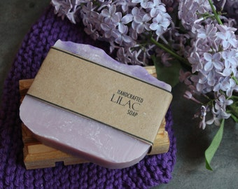 Lilac Soap, Cold Process Handmade Soap, Vegan Friendly Olive Oil Soap