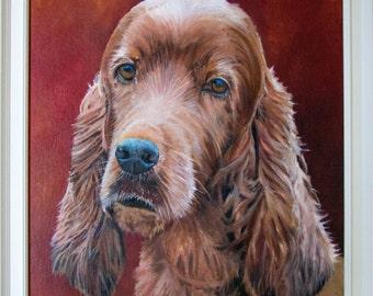 Rosie (framed oil painting, 2016)