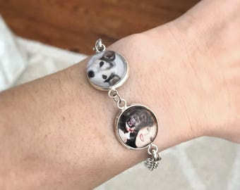 Personalized Charm Picture Bracelet Personalized Bracelet For Her Personalized Jewelry Custom Bracelet Personalized Bracelet Jewelry
