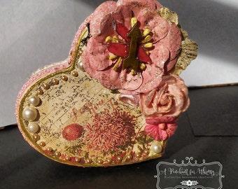 Small Heart Shaped Gift Box/Jewelry Box/Trinket Box