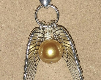 Harry Potter Inspired Golden Snitch Necklace Pendant