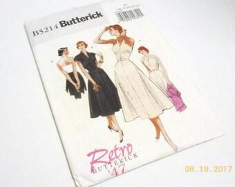 Retro Butterick '47 Dress & Jacket Pattern NIP Factory Folded