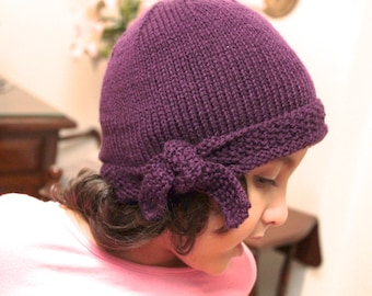 Bow Knot hat pattern Instant download