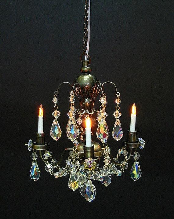 112 scale houseworks miniature 3 arm nostalgia crystal chandelier 112 scale houseworks miniature 3 arm nostalgia crystal chandelier from vintagemodernstudios on etsy studio aloadofball Image collections