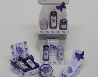 Crabtree & Evelyn Miniature perfumes, FREESIA, 1/12th scale - Various displays, Exclusive, Limited.