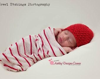 Crochet Pattern Paisley Beanie (Newborn - Adult) - PDF - Instant Digital Download
