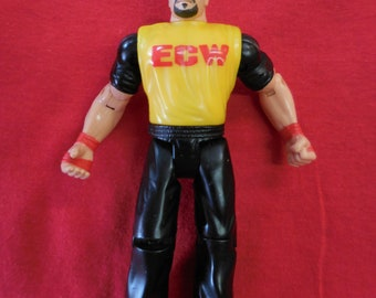 90s ECW Wrestling Tommy Dreamer Action Figure Yellow Shirt Toymakers WWF WWE