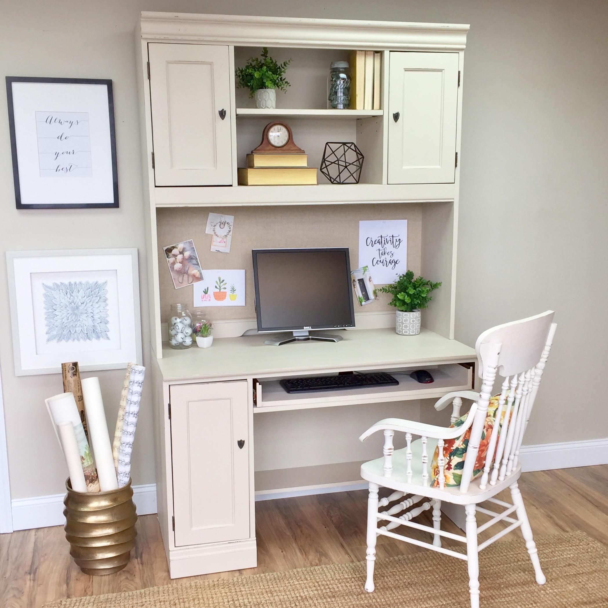 Hutch Desk   White Desk With Hutch   Home Office Furniture   Hooker Furniture  Desk   Computer Desk With Hutch   Distressed Furniture