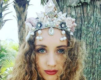 "The "" Valerian"" seashell pearl mermaid crown"