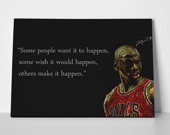 Michael Jordan Poster Quote 23 or Canvas