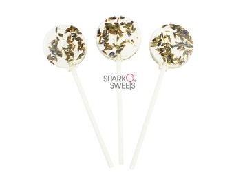 Natural Lavender Handcrafted Lollipops by Sparko Sweets