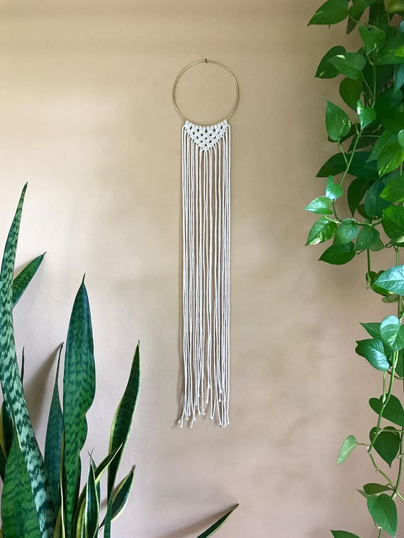 Open Triangle Macrame Dream Catcher
