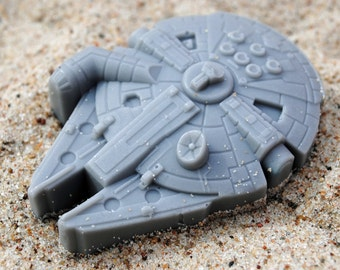 2 x Fun Millennium Falcon Soap : Star Wars - Made from a Star Wars mould