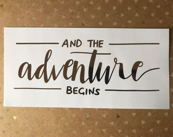 And the adventure begins | Print | Customisable foil colour & size |