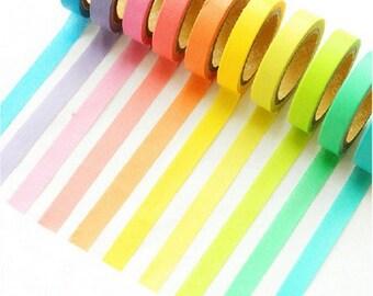 10 Washi tape washi multicolored rainbow
