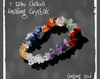 Chakra bracelet, Healing Crystals, Natural Stone Paraclete, yoga jewelry, Reiki Bracelets, chip stone, Buddha bracelet, crystals, zen
