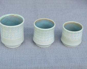 Sky Blue Circles Shot Glasses