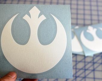 Star Wars Rebel Alliance decal.. Rebel Alliance sticker.. Rebel Alliance vinyl decal.. Rebel Alliance window sticker.. Rebel Alliance decal