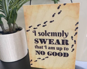 Harry Potter quote. I solemnly swear. Harry Potter print. Harry Potter poster. Harry Potter decor.  Harry Potter baby. Harry potter gift.