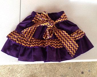 LSU themed Ruffle Skirt